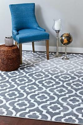 3028 Moroccan Trellis Gray Area Rug Modern Contemporary Abstract Carpet