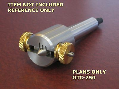 MINI LATHE OFFSETABLE TAILSTOCK CENTER -BUILD PLANS-OTC-125 fits small lathes