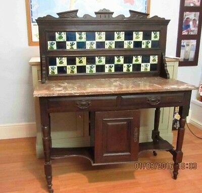Victorian Wash Stand Mahogany Delivery Available