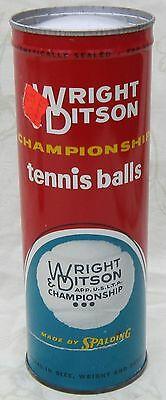 Vintage WRIGHT & DITSON Championship TENNIS BALLS in UNOPENED Key Wind CAN