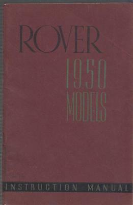 Rover P4 75 Cyclops Saloon Original 1950 Factory Owners Instruction Manual