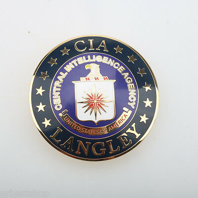 RARE CIA Central Intelligence Agency Metal Badge