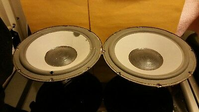 """Pair of Vintage 10"""" Audioanalyst woofers from the 100A model. Tested good!"""
