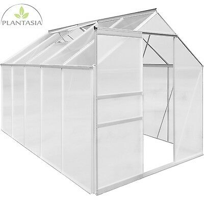 PLANTASIA 9,42 m³ ALU Greenhouse 6mm Complete roof covering Tomato