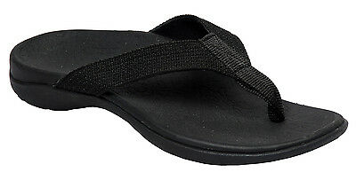 NEW Axign Orthotic Thongs / Shoes / Arch Support / Black / Unisex