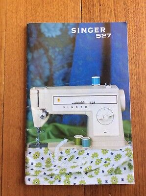 Vintage Singer 527 sewing machine owners instruction manual book 1975