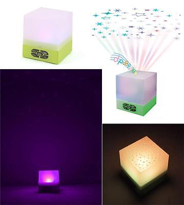 NEW Playette Star Glow Cube Star Projector & Sound Machine - Baby Night Light