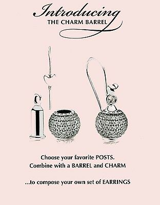 Genuine Pandora Sterling  Silver Earrings Barrels with or without  earrings