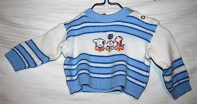 Vintage Child Wise Acrylic Sweater Boys Size 3-6 Months