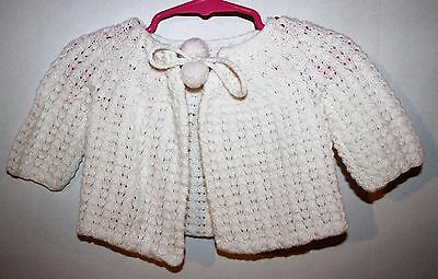 Vintage White Acrylic Sweater Size 6-12 Months