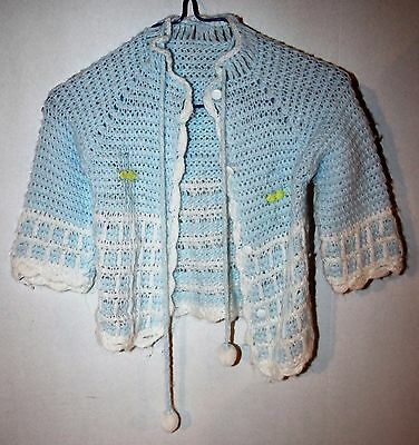 Vintage Blue Acrylic Sweater Size 12-24 Months