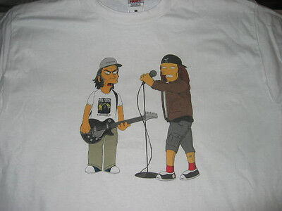 NEIL YOUNG & EDDIE VEDDER as SIMPSONS t-shirt PEARL JAM  CRAZY HORSE