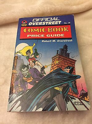 The Overstreet Comic Book Price Guide 19Th Edition-Soft Cover- Free Shipping!
