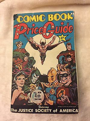 The Overstreet Comic Book Price Guide 4Th Edition-Soft Cover- Free Shipping!