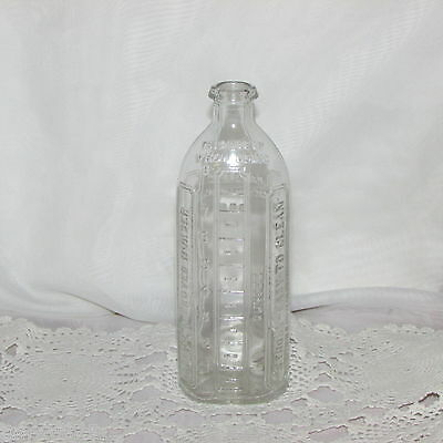 ANTIQUE RIGO IMPROVED NURSER 8 OZ 1920's GLASS BABY BOTTLE CANADA DOMINION OLD