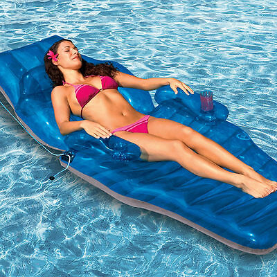 New Luxury Pool Lounger Adjustable Recliner Chaise, Inflatable Pool lounge Float