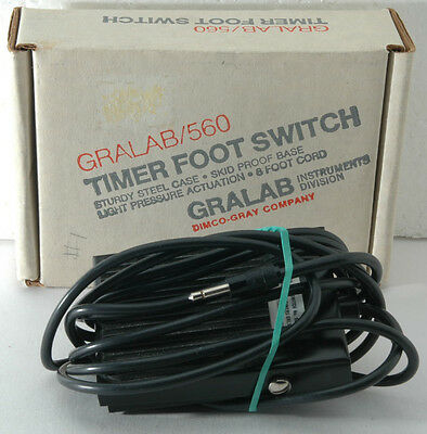 GRALAB 560 TIMER FOOT SWITCH in orig box, no signs of use, for GraLab 450 timer