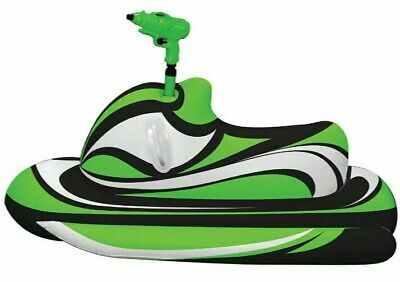 Inflatable Jet Ski Ride On, Jumbo 175cm Pool Toy, Float, kids, toddler, squirt