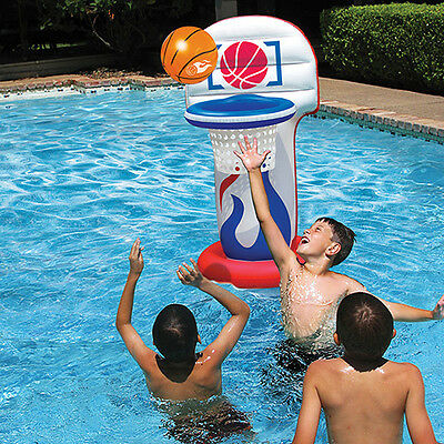 Kool Dunk- Inflatable Basketball Hoop Set Pool Toy -  Swimming Pool Game Float