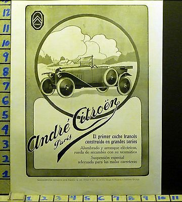 1923 Citroen Type 5Cv French Paris Car Auto Engine Sport    Ab78