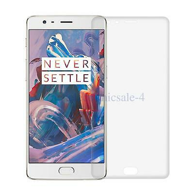 Full Cover 3D Curved Tempered HD Clear Glass Screen Guard For Oneplus 3/Three