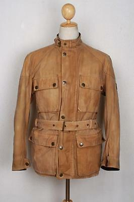 Mens BELSTAFF Belted Motorcycle WAXED Jacket Small