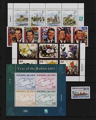 Marshall Islands - Recent Mint, NH stamps - FACE value $ 18.51