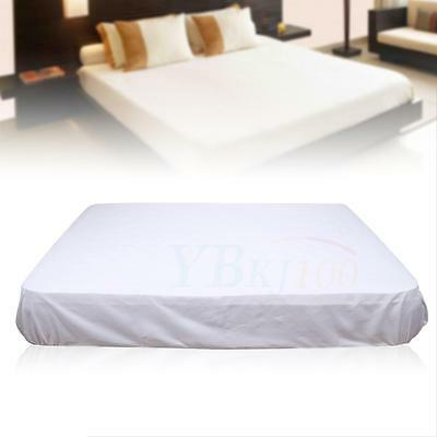 Eco-friendly Polyester Queen Size Bed Mattress Pad Cover Protector Washable Gift