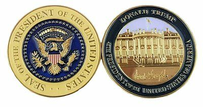 Donald Trump, 45th President, Signed Challenge Coin, 3D, in Plastic Case