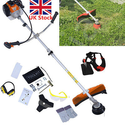 52cc Noza Tec Petrol Strimmer Brush Cutter Trimmer Multi Tool Garden Grass Yard
