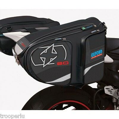 Oxford X60 Panniers Motorcycle Luggage 60Ltrs Black #ol110