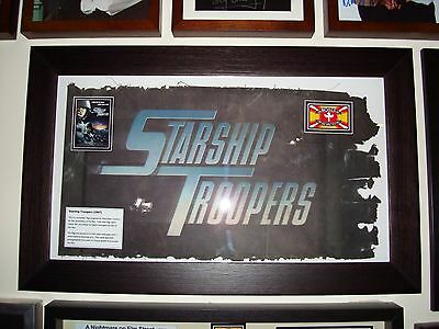 Starship Troopers (1997) Battle Damaged flag film prop & COA