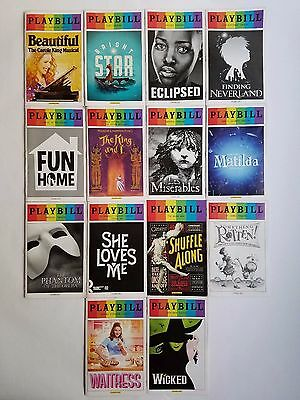 Broadway Playbills: Lot of 14 PRIDE - Bright Star, Eclipsed, Waitress, and more!
