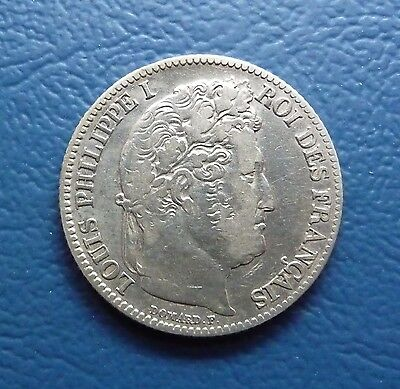 1 Francs 1847 A Louis Philippe I. Frankreich Silber ss