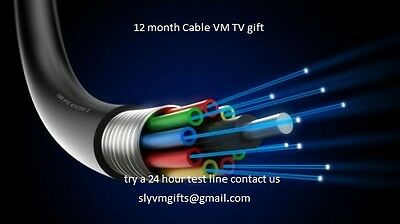 12 month Cable VM TV gift  amazing service reduced price for Feb only!!