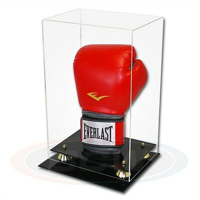 Boxing Glove or 12 inch Model Display Case with Mirror Back