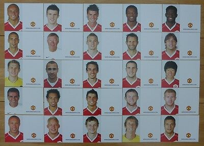 2006-07 Unsigned Man Utd Club Cards - Individually Priced