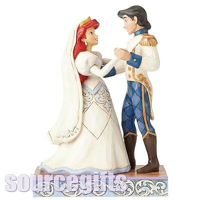 New * Wedding Bliss * Ariel And Prince Eric Disney Traditions  Figurine 4056749