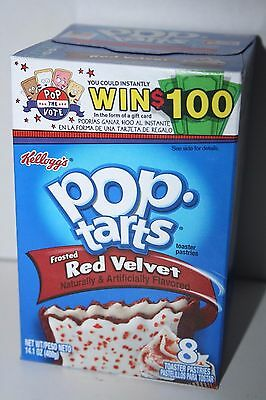 USA Kellogg's Pop Tarts Frosted RED VELVET (8 toaster pastries)