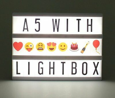 Locomocean A5 Cinematic LIGHTBOX Light Up Message Board with 96 Letters + Emoji