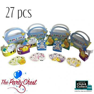 EASTER EGG HUNT PARTY GAME SET Happy Easter Baskets Eggs Cutout Decorations 6318