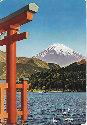 JAPAN (30w) 1959  post. NATIONAL PARK HAKONE st.  to ITALY