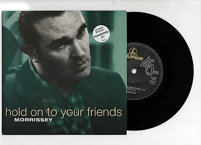 """MORRISSEY - HOLD ON TO YOUR FRIENDS 7"""" 45 Nr MINT VINYL Rare Limited Edn Smiths"""