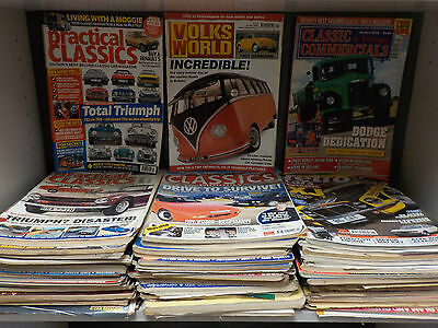 Various Classic Car & Commercials Magazines - 55 Magazine Collection! (ID:42824)