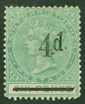 SG 25 St Christopher 4d on 6d green. Mounted mint CAT £60