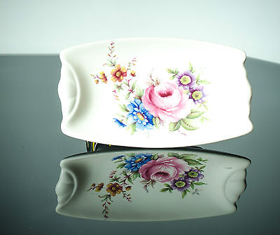 Axe Vale Pottery Pair of Pin Trays Floral Design