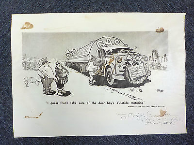 Carl Giles ('Giles Cartoons') - SIGNED PRINT (ID:627)