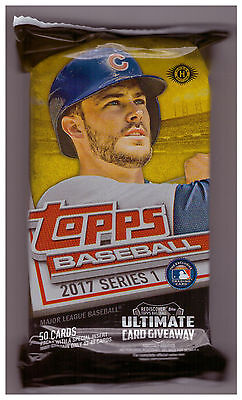 2017 Topps Series 1 Baseball 50 Card Jumbo Hobby Pack