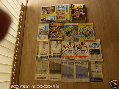 Leeds Utd Home Programmes 1961/62 to 1979/80  UPDATED 31/5/17  Select from list
