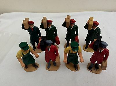 LGB Hand Painted G Gauge  - Group of 8 Porters